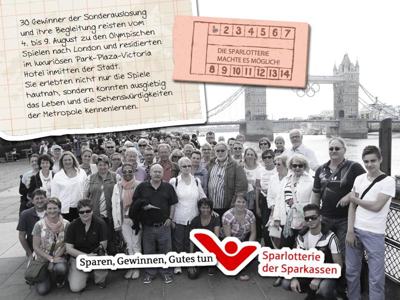 Olympia Tagebuch - Eindrücke eines Sparlotterie-Gewinners