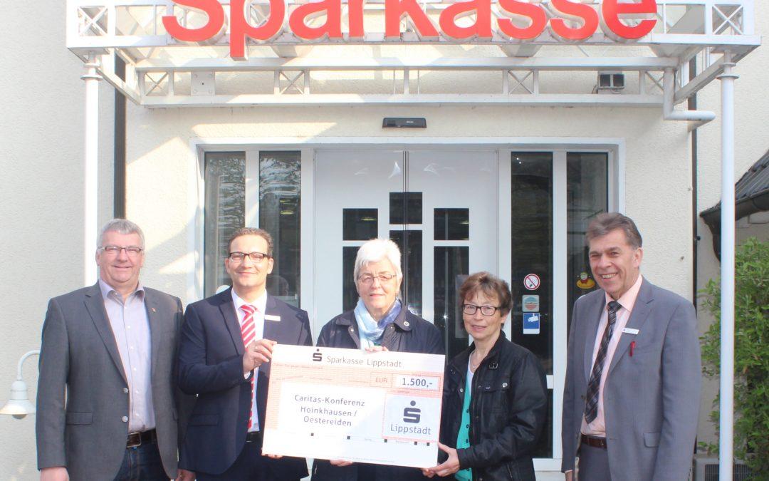 1.500 Euro für Caritas-Konferenz Hoinkhausen/Oestereiden