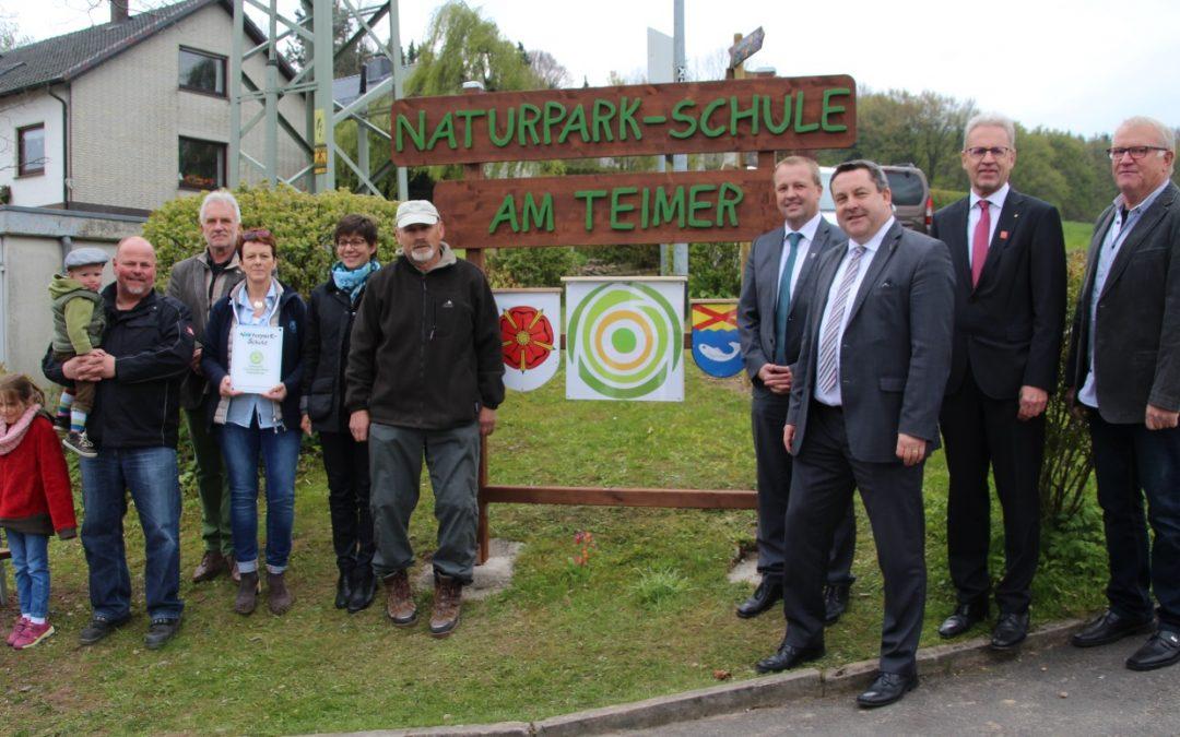 "Grundschule Am Teimer wird ""Naturpark-Schule"""