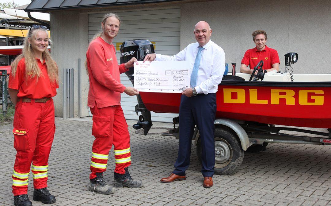 Sparkasse Bochum: 50.000 Euro für Hochwasser-Opfer